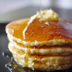 Pancake with Maple Syrup and Butter