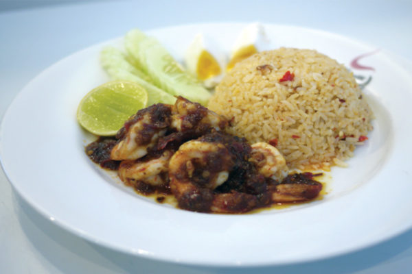 Prawn Fried rice wih chilli sauce