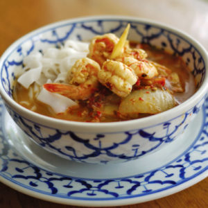 Rice noodle with Tom Yum