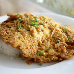 Rice with Chicken Omelette