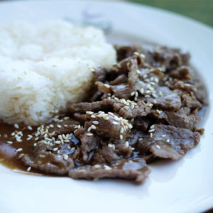 Rice with Korean Beef