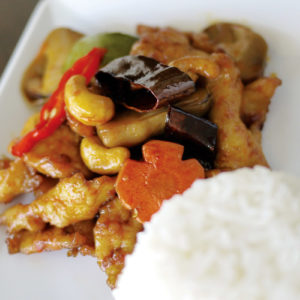 Rice with Stir Fried Chicken & Cashew Nuts