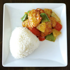 Rice with Sweet & Sour