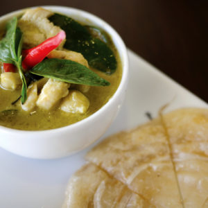 Roti Canai With Green Curry Chicken
