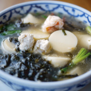 Seaweed Soup with Egg Tofu
