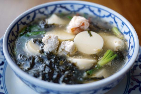 Seaweed Soup with Egg Tofu