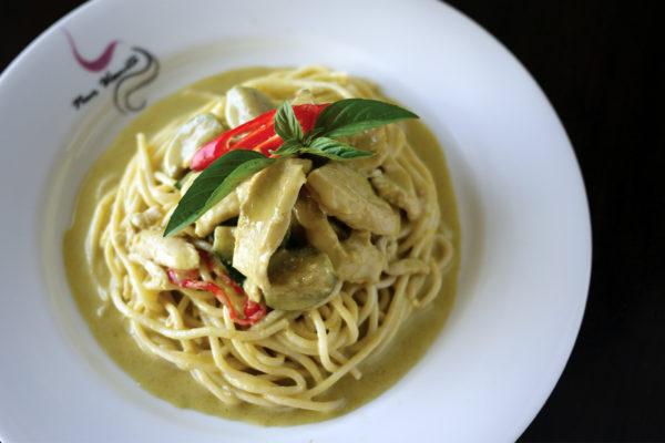 Spaghetti Thai Green Curry