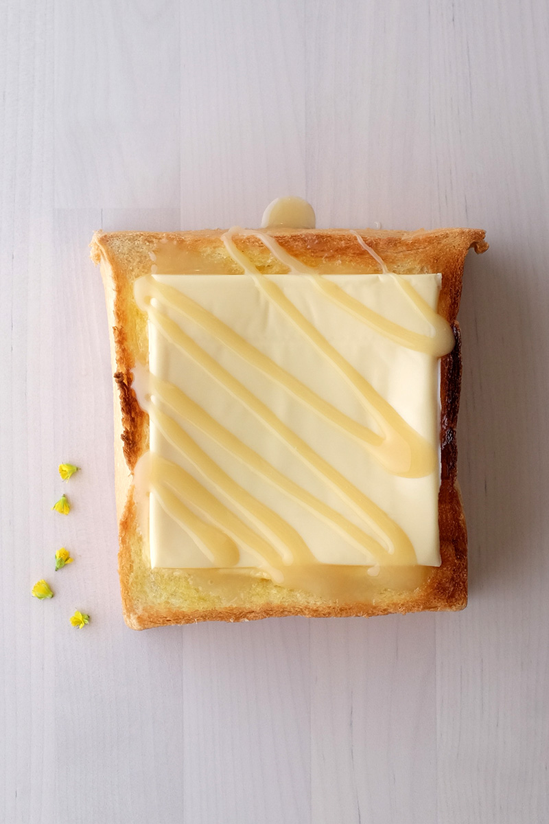 Toast Butter Cheese Susu manis