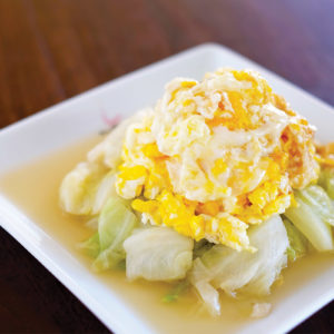 Stir Fried Cabbage with Thai Fish Sauce